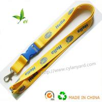 Best Imprinted logo polyester lanyards, cheap logo printed neck lanyards small quantity China, wholesale