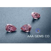 Buy cheap Fancy shape Moissanite pear shape pink color 6*8mm VVS clarity from wholesalers
