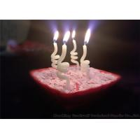 Quality Noctilucence Swirl Shaped Birthday Candles Art Wax Twisted Birthday Candles for sale