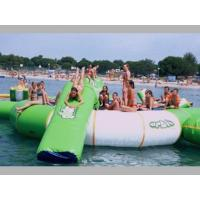 Best Outdoor Inflatable Water Jump Bed Combination , Inflatable Water Trampoline With Slide wholesale