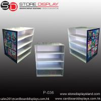 Best Four shelves corrugated display PDQ pallet display stand wholesale