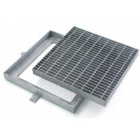 Quality Custom Hinged Mental Drainage Ditch Covers, Reliable Galvanized Trench Grating for sale