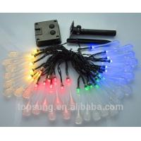 Quality outdoor lighting 5m 20leds solar water drop led christmas lights for sale