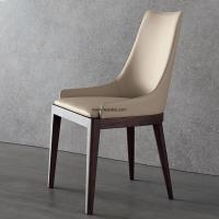 Quality Modern restaurant furniture PU upholsted dining chair with solid wood legs for sale