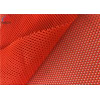 China Polyester Fluorescent Material Fabric Tricot Mesh Fabric Safety Uniform Material on sale