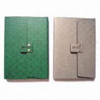 China Simulated Leather Book Covers with Magnetic Closure on sale