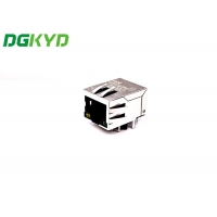 Buy cheap Modular Single Port RJ45 DIP Connector With LED from wholesalers