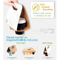 China Paper cup carrier, Custom Take Away 2 Drink Coffee Cup Carrier, Disposable Paper Cup Holder,cup holder/paper hot disposa on sale
