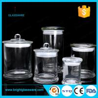 Best 3oz 8oz 12oz glass candle jar in stock, best quality clear metro glass jar wholesale