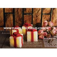 China Gift Box Shaped LED Flameless Votive Candles / Beautiful LED Votives Light for Gifts on sale