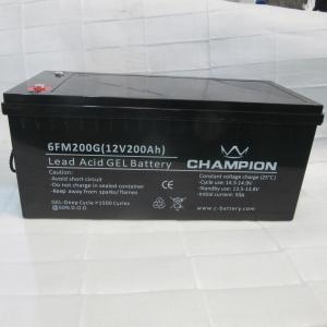 Quality 12V 200AH Sealed Gel Lead Acid Battery For Solar Cell Power Generation for sale