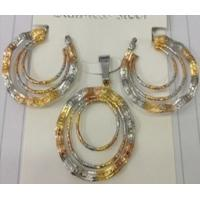 Quality Bridal Jewelry Three Color Fashion Jewelry Sets for Women for sale