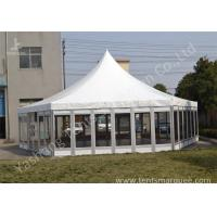 Quality Polygon Transparent Glass Wall wedding canopy tent high peak Aluminum Frame for sale