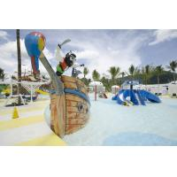 Quality Fiberglass Pirate Ship Amusement Park Equipment For Spray Play for sale