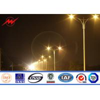 Best 11m Outdoor Square Galvanized Parking Lot Light Pole With Double Arms wholesale