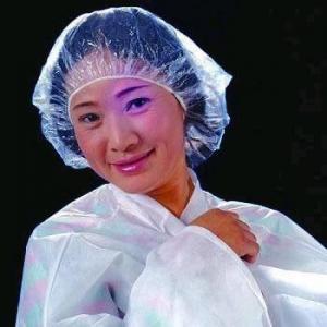 China Disposable PE Shower Cap, PE Shower Hat on sale