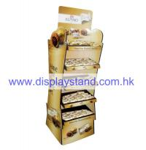 Quality Chocolate Matt lamination Promotion Cardboard Pallet Display in Silkscreen printing for sale