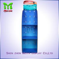China Colorful Printed 3 -Tiers Customized Corrugated Paper Hook Display Stand for Socks /  Flip-flops on sale