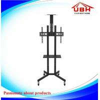 China small tv stand  Mobile TV Stand with wall Mount black Office Mobile TV Stand with Castor Wheel on sale