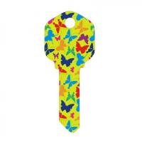 Buy Butterfly Designs Printed House Key Blanks Full Color Painted KW1 and SC1 Key at wholesale prices