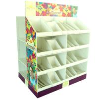 Buy PDQ Floor Corrugated Cardboard Pallet Box Greeting Card Display Units Cardboard Containers at wholesale prices