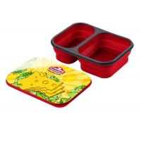 Custom Lightweight And Portable Silicone Bento Box With Two Compartment