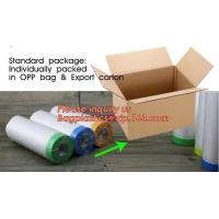 Quality pre-taped paintable car masking film,auto paint solution HDPE masking film,1500*2300mm Masking Film Tape Roll Self Adhes for sale