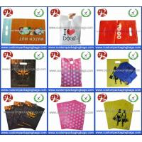 China Factory Wholesale Glossy LDPE Die Cut Handle Plastic Retail Merchandise Bags on sale