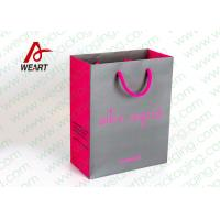 Best Grey & Pink Coloured Paper Gift Bags For Weddings 210gsm Material wholesale