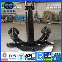Quality Japan stockless Anchor with KR LR BV NK ABS DNV certification for sale