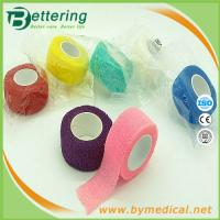 Quality 2.5cm Easy Hand Tearable Non Woven Finger wrap cohesive bandage self adhesive bandage for sale