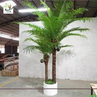 Best UVG indoor bonsai artificial mini palm trees with plastic leaves for office landscaping PTR061 wholesale