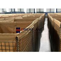 Quality Sand Filled Recoverable 50x50mm Military Hesco Barriers for sale