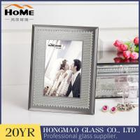 Quality Grey Color Glitter Glass Photo Frame For Home Decoration 180*230*15MM Size for sale