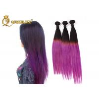 China Colored Ombre Hair Extensions Real Human Hair Straight Hair Weft on sale