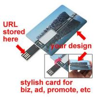China Credit card USB web key, wallet usb webkey, for business marketing, advertising, name card on sale