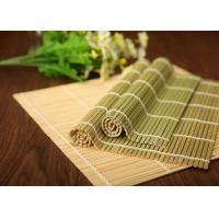 Quality Hand Made Craft Natural Bamboo Roll Up Mat For Japanese Sushi Making for sale
