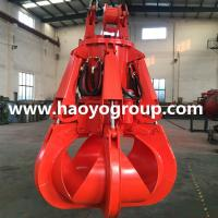 Quality 1.5m3 steel scrap discharging electric hydraulic orange peel grab cucket for sale