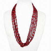 China Hot-selling and fashionable new model natural red coral necklaces on sale