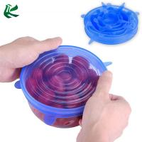 Quality Reusable 6 Pack Silicone Stretch Lids for sale