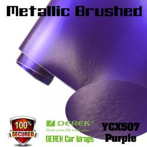 Quality Matte Metallic Brushed Vinyl Wrapping Film - Matte Metallic Brushed Purple for sale
