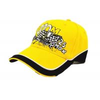 Quality Customized Yellow Racing Baseball Caps Cotton Adjustable Size For Sports for sale