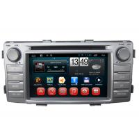 Quality Toyota Hilux GPS Navigation Android DVD Player 3G Wifi SWC BT RDS TV for sale