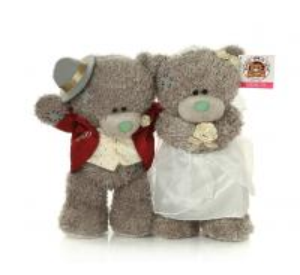 Quality plush marriage gauze teddy bear toy,cloth teddy beat toy for wedding for sale