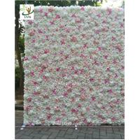 Best UVG CHR1136 DIY backdrop wedding in pink artificial rose flower wall for stage decoration wholesale