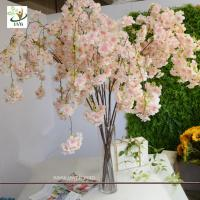 Best UVG CHR129 pink fake cherry blossom tree decorative branches for wedding table decoration wholesale