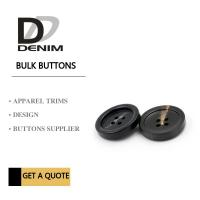 Plastic Resin 4 Hole Plastic Button For Khaki Double - Breasted Trench Coat