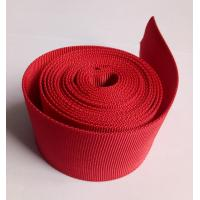 Buy cheap Red Polyester Hollow Webbing Textile Webbing For Heavy Industry Machinery from wholesalers