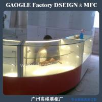 China wholesale wooden glass jewelry display cases with led lights on sale
