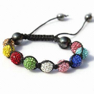 Buy Shambhala Colorful Beaded/String/Ball/Handcraft Gift Bracelet at wholesale prices